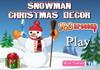 Game Snowman Christmas decor