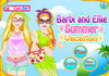 Game Barbi and Ellie summer vacation