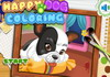 Game Happy dog coloring