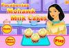 Game Pocahontas Mohawk milk cakes