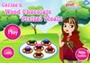 Game Cerise wood chocolate pretzel treats