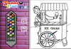 Game Ice cream man online coloring