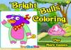 Game Bright bulls coloring