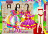 Game Barbie colorful bride