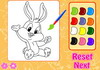 Game Bunny and friends coloring