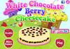 Game White chocolate berry cheesecake
