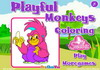 Game Playful monkeys coloring