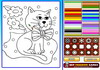 Game Cat colouring