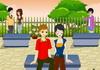 Game Square park kissing