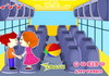 Game Kids bus kiss