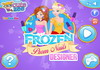 Game Frozen prom nails designer
