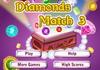 Game Diamonds match 3