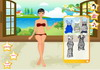 Game Gloria stripes dressup