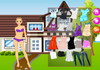 Game Model house dressup